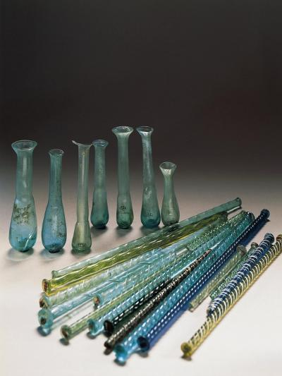 Roman Civilization, Glass, Containers and Polychrome Tubes in Glass--Giclee Print