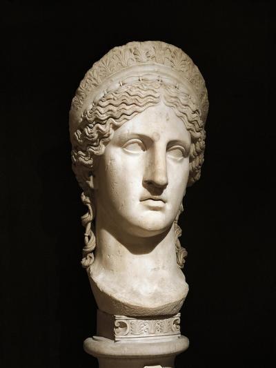 Roman Civilization, Marble Head of Hera Ludovisi--Giclee Print