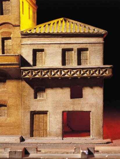 Roman Civilization, Model Reconstruction of Roman House with Balcony--Giclee Print