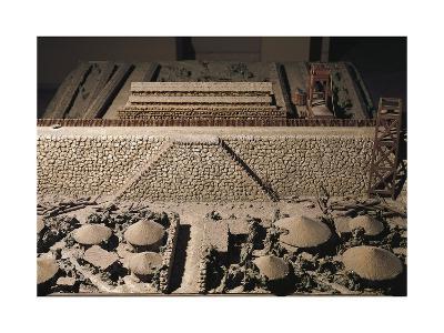 Roman Civilization, Plastic Model of Roman Encampment--Giclee Print