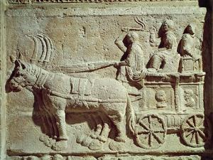 Roman Civilization, Relief Depicting Travel Scene, from Vaison-La-Romaine, France