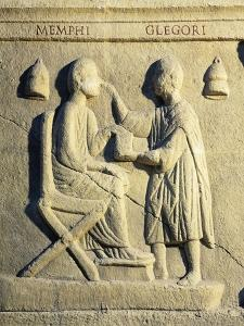 Roman Civilization, Relief Portraying Ophthalmologist Examining Patient