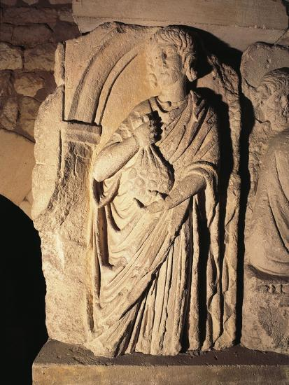 Roman Civilization, Relief Portraying Paying of Taxes, from Saintes, France--Giclee Print