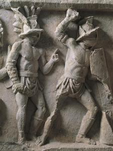 Roman Civilization, Relief with Scenes of Gladiatorial Combat and Games