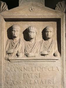 Roman Civilization, Stele of Cornelii Family from Rome