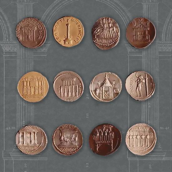 Roman Coins I Giclee Print by The Vintage Collection | Art com