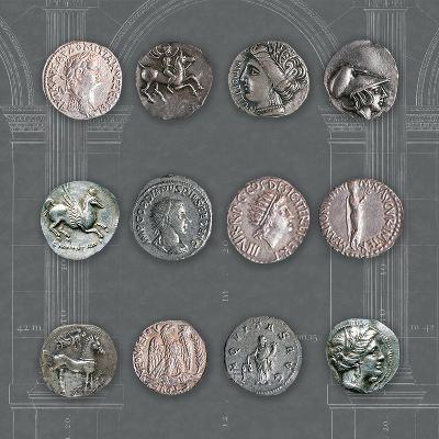 Roman Coins II-The Vintage Collection-Giclee Print