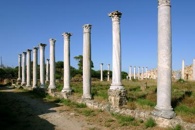 Roman Columns, Salamis, North Cyprus-Peter Thompson-Photographic Print