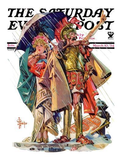 """Roman Costumes,"" Saturday Evening Post Cover, March 10, 1934-Joseph Christian Leyendecker-Giclee Print"