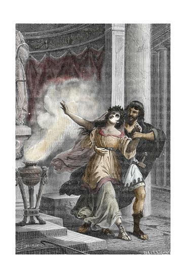 Roman Emperor Heliogabalus Kidnapping a Vestal--Giclee Print