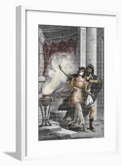 Roman Emperor Heliogabalus Kidnapping a Vestal--Framed Giclee Print