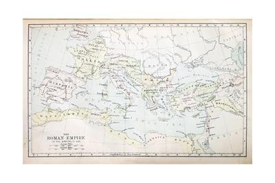 Roman Empire Map-pancaketom-Art Print