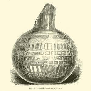 Roman Engraved Glass Bottle