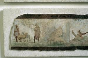 Roman Farmers with Sheep
