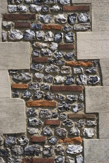Roman Flint and Tile Wall-Natalie Tepper-Photo