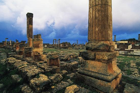 Roman Forum and Greek Agora, Greco-Roman City of Cyrene--Photographic Print