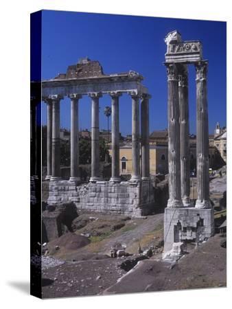 Roman Forum, at Left, Temple of Saturn, C. 300 Ad. Vespasian's Temple, C. 100 AD