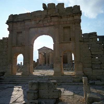 Roman Forum in Suffetula, Tunisia, 2nd Century-CM Dixon-Photographic Print