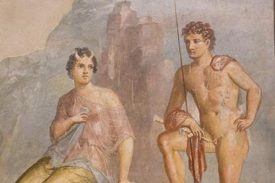 Roman Fresco, Io and Argos, from House of Meleager-Eleanor Scriven-Photographic Print