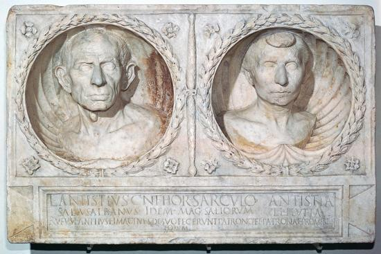 Roman funerary relief of a husband and wife-Unknown-Giclee Print