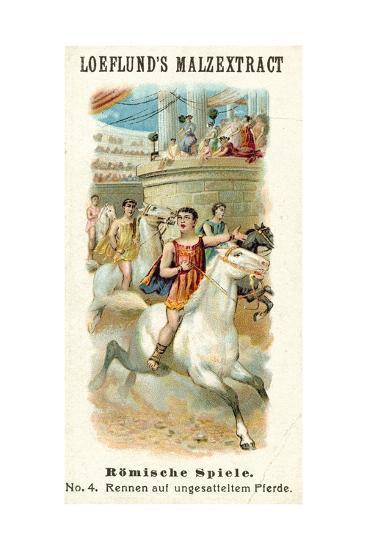 Roman Games - Bareback Horse Race--Giclee Print