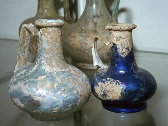 Roman glass bottles-Unknown-Giclee Print