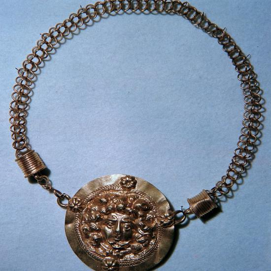 Roman gold pendant of a Gorgon's head, 2nd century-Unknown-Giclee Print