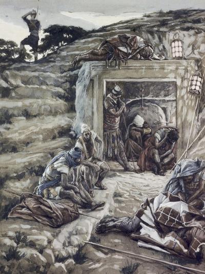 Roman Guards at the Tomb-James Tissot-Giclee Print