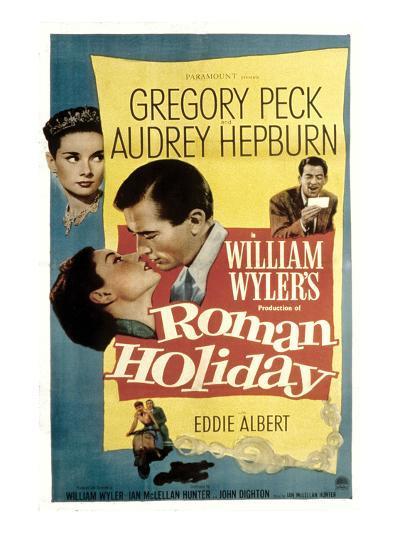 Roman Holiday, Audrey Hepburn, Gregory Peck, 1953--Photo
