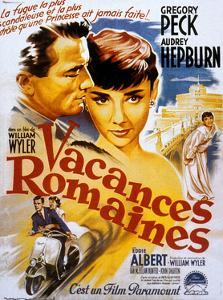 Roman Holiday, Audrey Hepburn, Gregory Peck, 1953