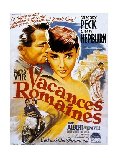 Roman Holiday, Audrey Hepburn, Gregory Peck, 1953--Art Print