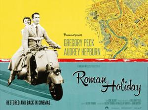 Roman Holiday, British Re-Release Poster Art, 1953