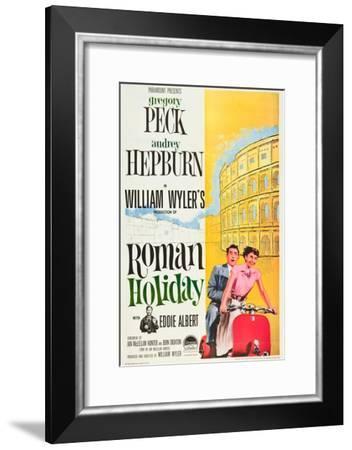 Roman Holiday, Eddie Albert, Gregory Peck, Audrey Hepburn, 1953--Framed Art Print