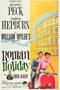 Roman Holiday, Eddie Albert, Gregory Peck, Audrey Hepburn, 1953