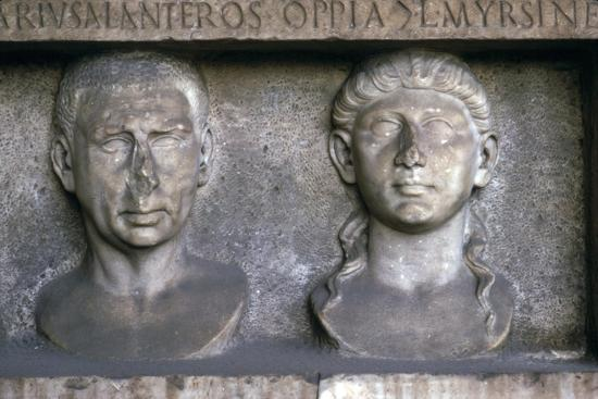 Roman Husband and wife (funerary slab) Imperial period. At Museo Nazionale Romano, Rome-Unknown-Giclee Print