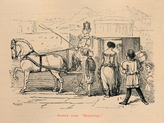 'Roman Lady Shopping', 1852-John Leech-Giclee Print