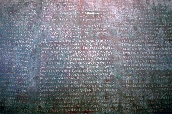 Roman Latin inscription on stone from Spain. Artist: Unknown-Unknown-Giclee Print