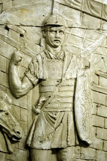 Roman Legionary on Sentry Duty, from Trajan's Column, Rome, 106-113--Photographic Print