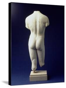 Roman Male Torso of a Youthful Figure, after a Polyclitan Bronze Original of the 5th Century BC