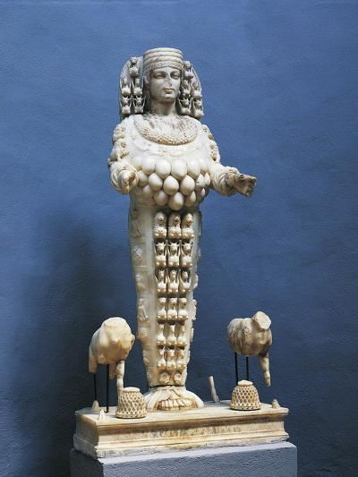 Roman Marble Copy of Colossal Statue of Many Breasted Artemis--Giclee Print