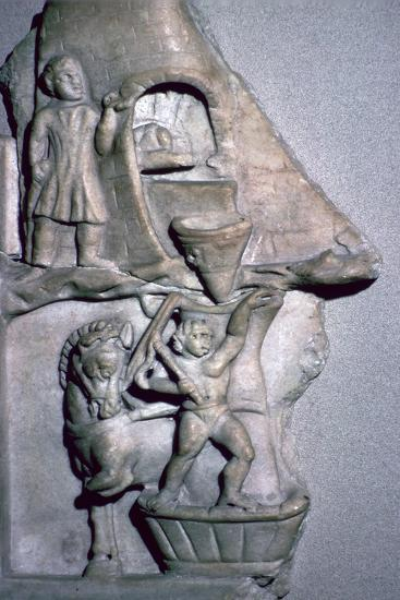 Roman marble relief of a baker's oven and corn mill-Unknown-Giclee Print