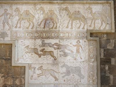 Roman Mosaic at the Theatre of Bosra, Syria--Giclee Print