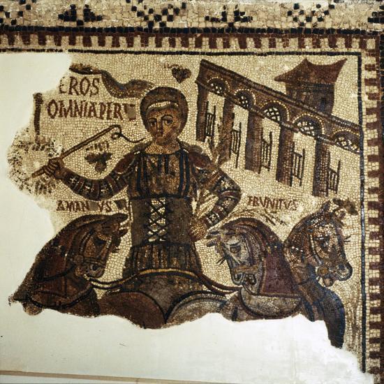 Roman Mosaic, Charioteer (Eros), c2nd-3rd century-Unknown-Giclee Print