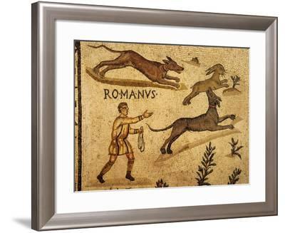 Roman Mosaic, Hare Hunting, 1st century AD--Framed Photographic Print