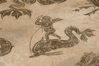Roman Mosaic. Neptune Riding a Chariot. Ostia Antica. Italy--Giclee Print