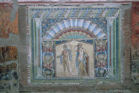 Roman mosaic of Neptune and Amphitrite, 1st century. Artist: Unknown-Unknown-Giclee Print
