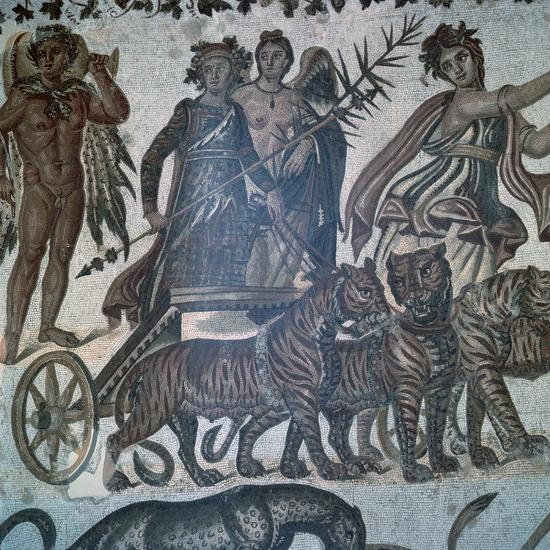 Roman mosaic showing the 'Triumph of Bacchus', 3rd century. Artist: Unknown-Unknown-Giclee Print