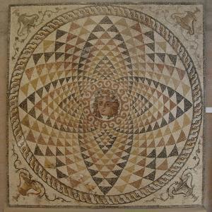 Roman Mosaic with Dyonysius Head