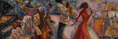 Jazz Singer, Jazz Club, Jazz Band,Oil Painting, Artist Roman Nogin, Series Sounds of Jazz. Looking-ROMAN NOGIN-Photographic Print
