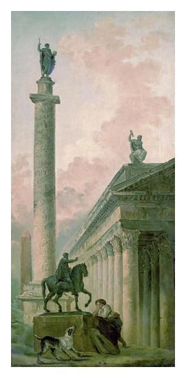 Roman Obelisk-Hubert Robert-Art Print